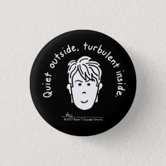 Turbulent Small Black Button 缶バッジ