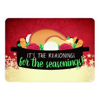 Turkey dinner restaurant catering Christmas card カード