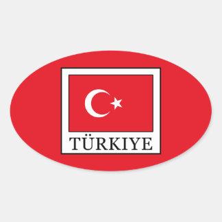 Türkiye 楕円形シール
