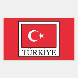 Türkiye 長方形シール