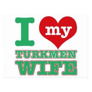 Turkmenstanの妻 ポストカード