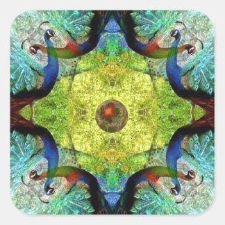 Turqoiuseの万華鏡のように千変万化するパターンパターンノベルティのギフト スクエアシール