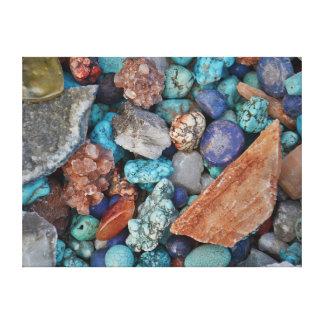 Turquioseの宝石用原石 キャンバスプリント