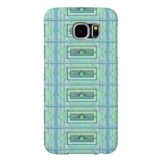 Turquiseのアールデコのタイル Samsung Galaxy S6 ケース