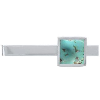 Turquoise Gemstone Image ModernTie Bar シルバー タイバー