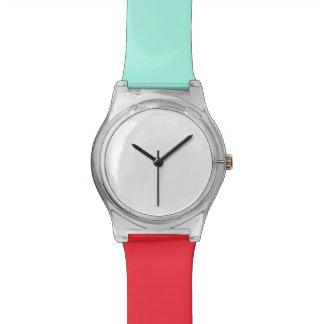 Turuoiseおよび赤いMay28thの腕時計 ウオッチ