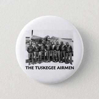 Tuskegeeのパイロット 5.7cm 丸型バッジ