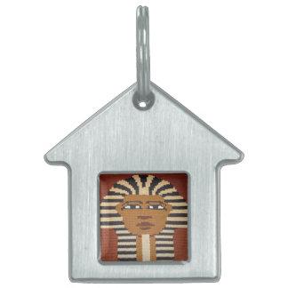 TutブラウンCrochet古代エジプトのファラオ王 ペットネームタグ