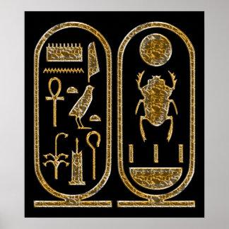 Tut Hieroglyphics Poster Print王 ポスター