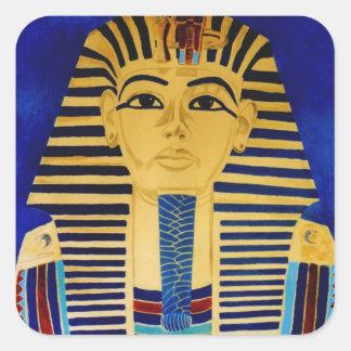 Tut Tutankhamun王の芸術のステッカー スクエアシール