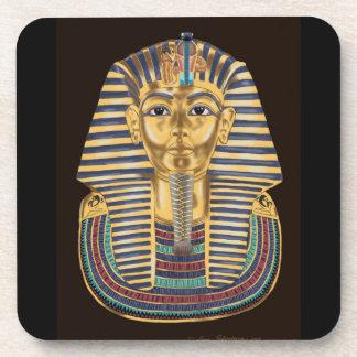 Tutankhamonの金マスク コースター