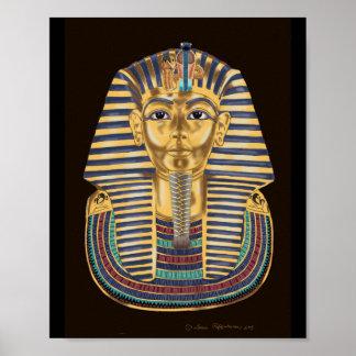 Tutankhamonの金マスク ポスター