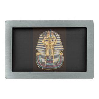 Tutankhamonの金マスク 長方形ベルトバックル