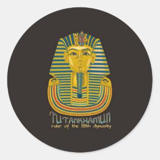 Tutankhamunのミイラ、Tutエジプトの古代王 ラウンドシール