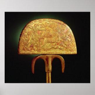 Tutankhamunの墓からのだちょう羽ファン、 ポスター