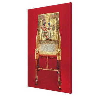Tutankhamunの墓からの王位、 キャンバスプリント