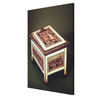 Tutankhamunの墓からの貴重品箱、 キャンバスプリント