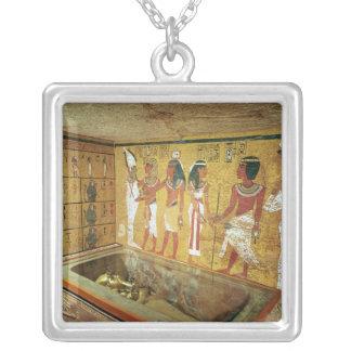 Tutankhamunの墓の埋葬室 シルバープレートネックレス