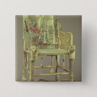 Tutankhamunの新しい王国の王位 5.1cm 正方形バッジ
