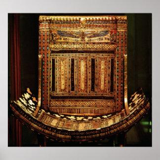 Tutankhamunの正式の椅子 ポスター