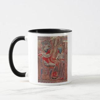 Tutankhamunの王位の背部 マグカップ