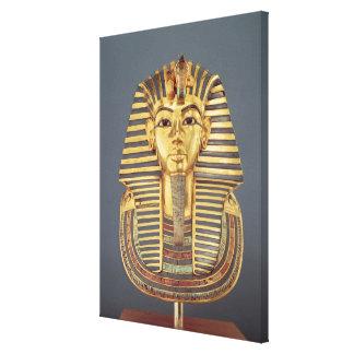 Tutankhamunの葬式のマスク キャンバスプリント