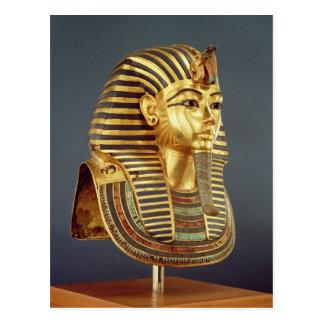 Tutankhamunの葬式のマスク ポストカード