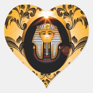 Tutankhamunのagyptischeのファラオ ハートシール