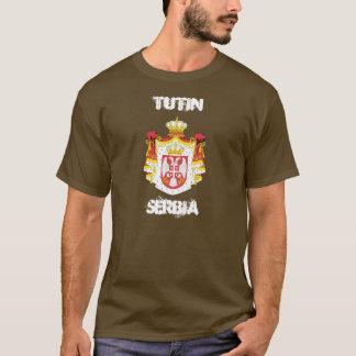Tutin、紋章付き外衣が付いているセルビア Tシャツ