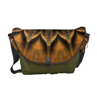 Tutti著作成される曼荼羅の星の茶色 メッセンジャーバッグ