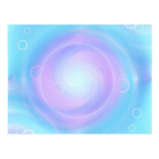 Tutti著作成される黙想の淡いブルー ポストカード