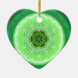 Tutti著作成される4ハートのチャクラの緑 セラミックオーナメント