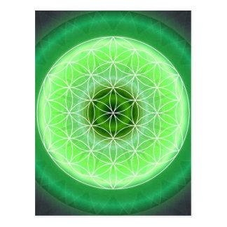 Tutti著作成される4ハートのチャクラの緑 ポストカード