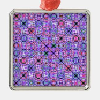Tutti著設計されているパターン紫色第3 メタルオーナメント