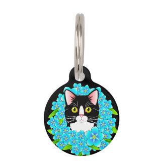 TuxedoCatのカスタマイズ可能なラベル-甘い子猫の付属品 ペット ネームタグ