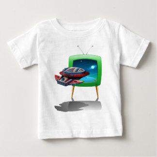 TVの宇宙の宇宙船の飛行 ベビーTシャツ