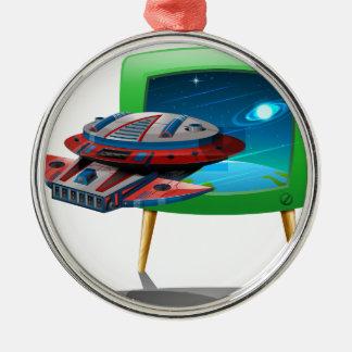 TVの宇宙の宇宙船の飛行 メタルオーナメント