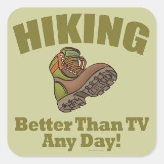 TVよりよくしま-ハイキングします スクエアシール