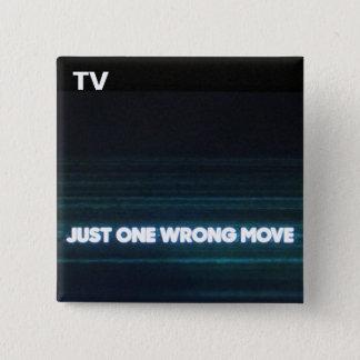 TVボタン第25 5.1CM 正方形バッジ