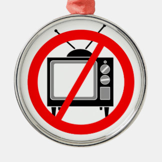 TV無し-テレビかプロパガンダまたは洗脳するか、または媒体 メタルオーナメント
