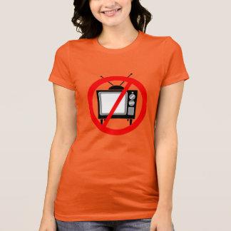TV無し-テレビかプロパガンダまたは洗脳するか、または媒体 Tシャツ