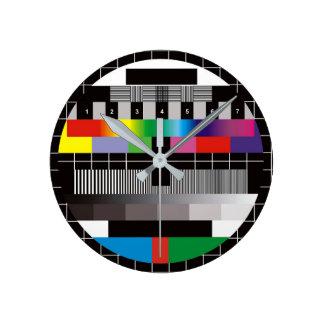 TV ラウンド壁時計