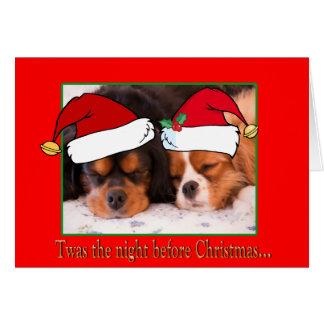 Twasクリスマスの騎士カードの前の夜 カード