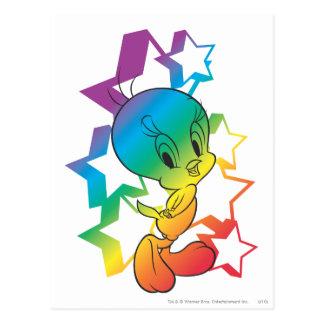 Tweetyの虹の星 ポストカード