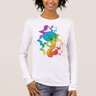 Tweetyの虹の星 長袖Tシャツ