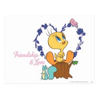 "Tweety ""友情および愛"" ポストカード"