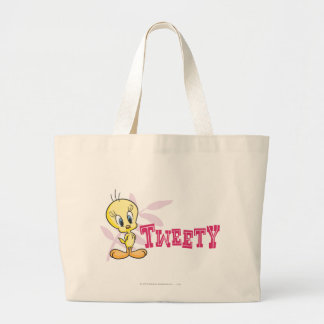 "Tweety ""Tweety""のピンク ラージトートバッグ"