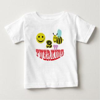 twerking幸せな2蜂 ベビーTシャツ