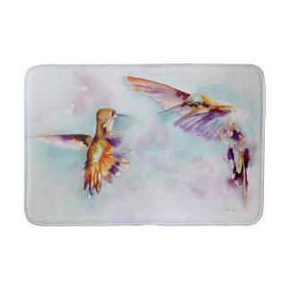 Twilight Dancers Hummingbird Print バスマット