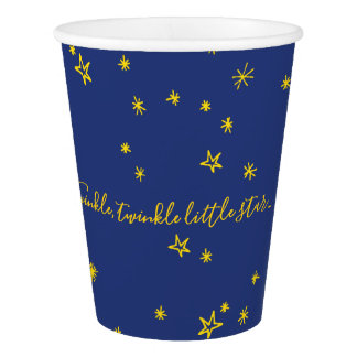 Twinkle Little Star Baby Shower Paper Cups 紙コップ